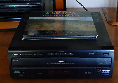 Pioneer CLD-M301 CD/CDV/LD 5-Disc Laser Disc Player  working + 3 movies
