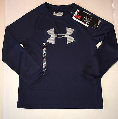 NWT Kids Under Armour  Long Sleeve Shirt Size Youth XS Heat Gear