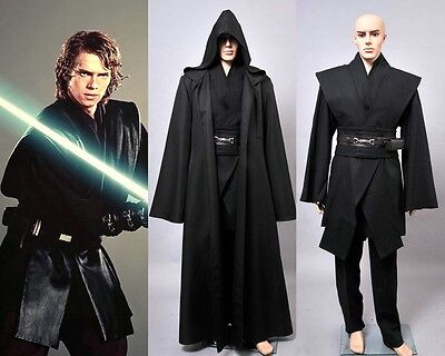 Star Wars Revenge of the Sith Anakin Skywalker Cosplay Black Outfit Suit Costume