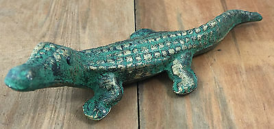Cast Iron Alligator Statue Yard and Garden Decor Gator Figurine
