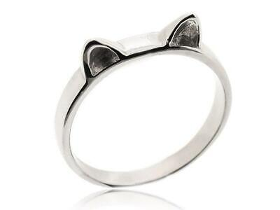 Sovats Women Cute Lovely Hot New Fashion Cat Animal 925 Silver Ring Size 5-12