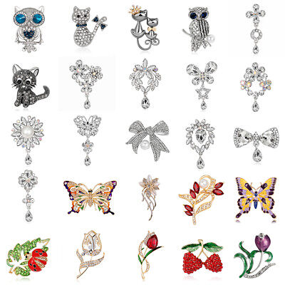 femmes Strass Mariage Bouquet Nuptial SILVER Flower Perle Broche précieuses