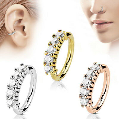 Nose Hoop Ring Piercing Rook Helix Lip Ring Ear Nose Eyebrow Cartilage Earrings