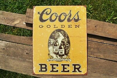 Coors Banquet Beer Tin Metal Sign - Golden, Colorado - Brewery - Light Lager