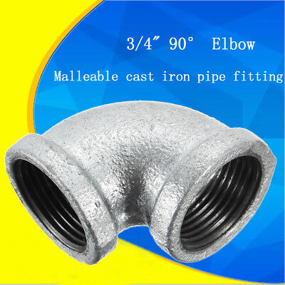 "2-4Pcs 3/4"" Elbow 90 Degree Angled Steel Threaded Pipe Fitting Resistant Erosion"