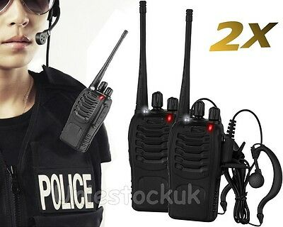 2x Baofeng BF-888S UHF 400-470 MHz 5W CTCSS Two-way Ham Radio 16CH Walkie Talkie