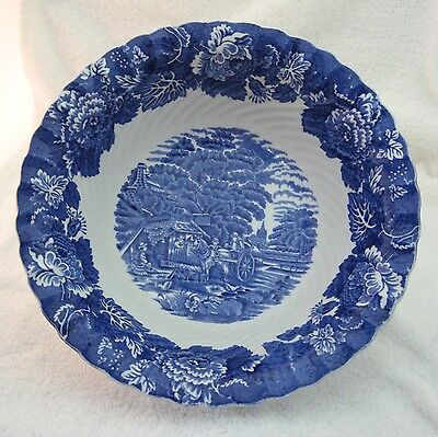 Enoch Wood's English Scenery Swirl Woods Ware Made England Large Open Vegetable