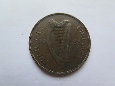 IRELAND 1935 COPPER 1 PENNY COIN in VERY NICE COLLECTABLE CONDITION