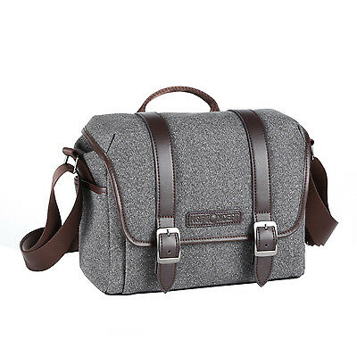 K&F Concept DSLR Camera Shoulder Bag WATERPROOF Shockproof Grey for Canon Nikon