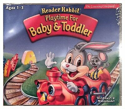 Reader Rabbit Playtime For Baby & Toddler (PC) Brand New Sealed - Free U.S. Ship