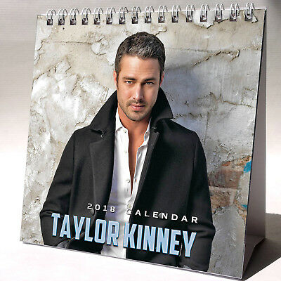 Taylor Kinney Desktop Calendar 2018 NEW + FREE GIFT 3 Stickers Chicago Fire