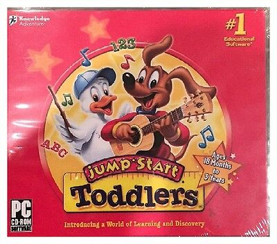 Jumpstart Toddlers PC/Windows/Win Factory Sealed New - Win10, 8, 7, XP - Nice