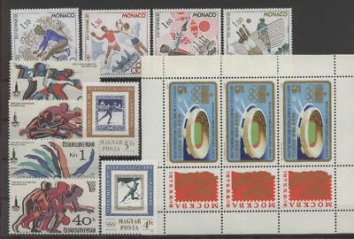 Olympiade 1980, Olympic Games - LOT ** MNH
