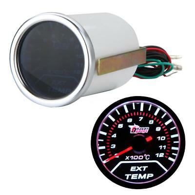 2'' 52MM Car 12V LED EXHAUST EXT GAS TEMPERATURE TEMP EGT GAUGE METER w/ SENSOR