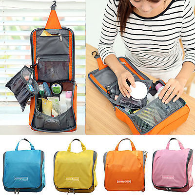 Travel Cosmetic Makeup Bag Toiletry Case Hanging Storage Bag Zip Organizer Pouch