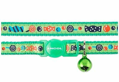 Ancol Sweeties Cat Collar with Safety Buckle - Green