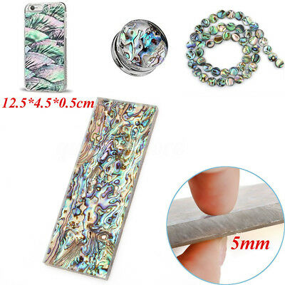 AU 2X 5mm Natural Abalone Acrylic Cutter Blade Handle Scales Jewelry Crafts DIY