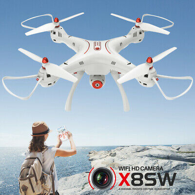 3Batteries Syma X8SW WiFi FPV RC Drone X8SC 2.4G 4CH Altitude Hold  Headless UAV