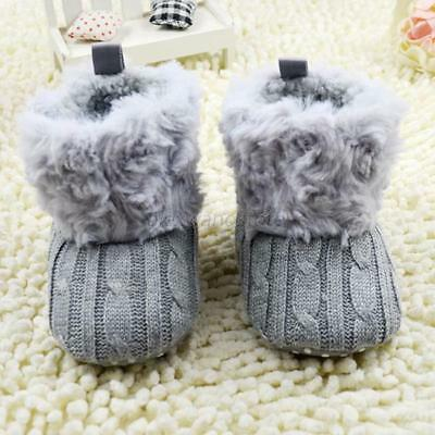 0-18M Newborn Toddler Baby Boy Girl Warm Soft Sole Snow Booties Boots Crib Shoes