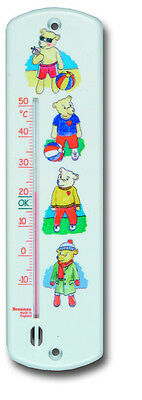 Wall Thermometer Baby Childs Kids Nursery Playroom Bedroom Teddy Bear - 14/472/2