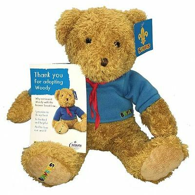 Beavers Woody TEDDY Bear with certificate Scouts