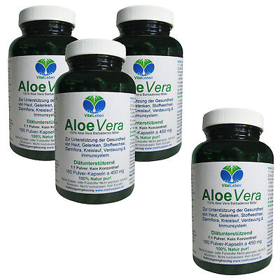 "Aloe Vera 100% Natural 1:1 ""Forever Young"", 720 Kapseln a 450mg, #25884"