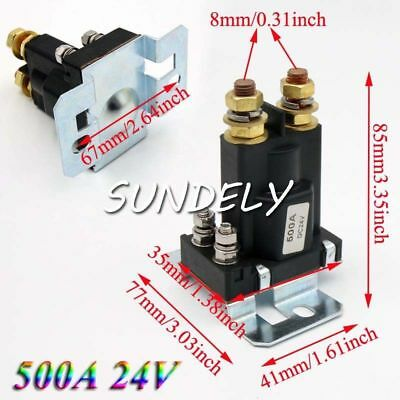 UK 500A 24V 4 Pin DC High Current Relay Contactor On/Off Car Auto Power Switch