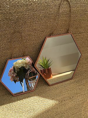 Large black lounge wall mirror 60 x 30 with hanging kit for Small hanging mirror
