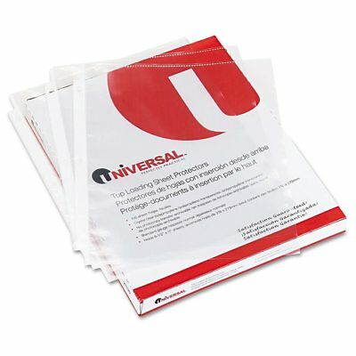 Universal Top-Load Poly Sheet Protectors, Nonglare, Economy, Letter, 200/Box ...