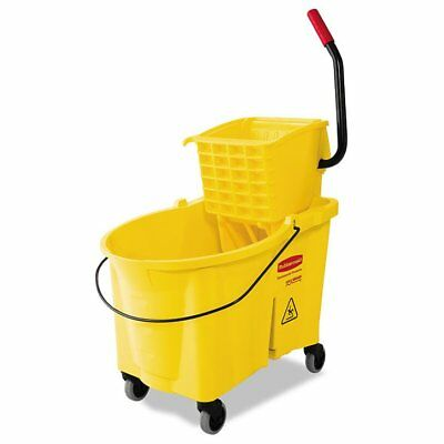 Rubbermaid Commercial WaveBrake 44 Quart Bucket/Sideward Pressure Wringer Co ...