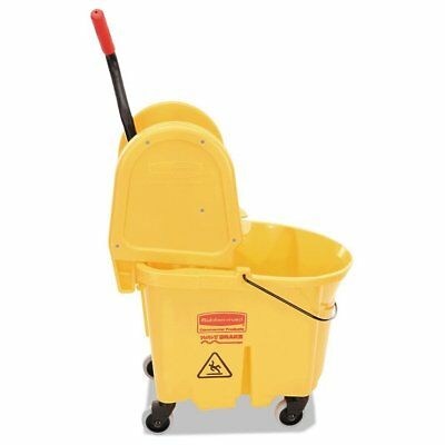 Rubbermaid Commercial Wavebrake 35 Quart Bucket/Wringer Combinations, Yellow ...