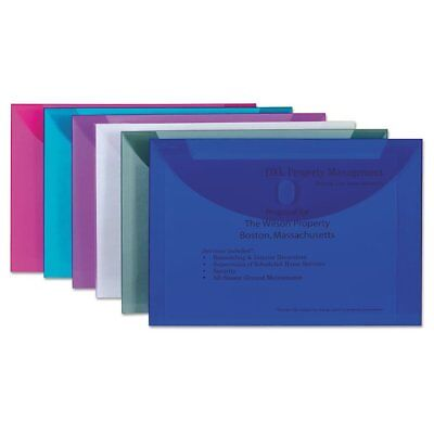 C-Line Reusable Poly Envelope, Hook and Loop Closure, 9 1/2 x 13, Assorted - ...