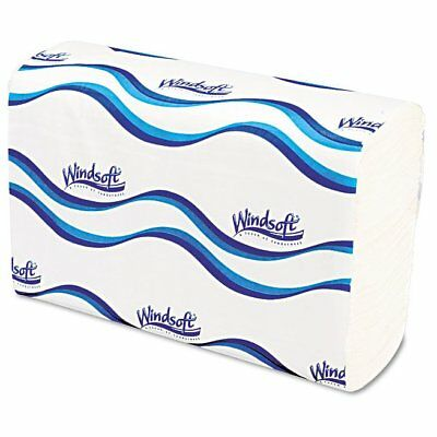 Windsoft Multifold Paper Towels, 1-Ply, 9 1/5 x 9 2/5, White, 250Per Pack, 1 ...