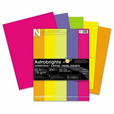 Neenah Paper Neenah Astrobrights Colored Card Stock, 65 lb, 8-1/2 x 11, Asso ...