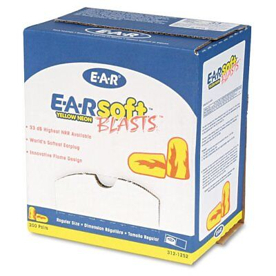 3M E-A-Rsoft Blasts Earplugs, Uncorded, Foam, Yellow Neon/Red Flame, 200 Pai ...