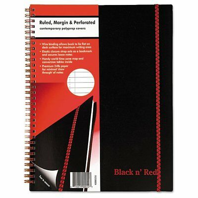 Black n Red Black n' Red Twin Wire Poly Cover Notebook, Legal Rule, 11 x ...