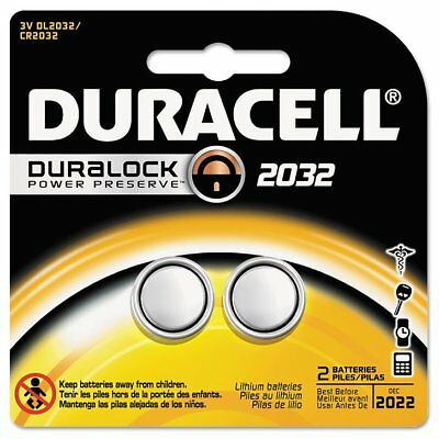 Duracell Lithium Medical Duralock Battery, 3V, 2/Pk - DURDL2032B2PK