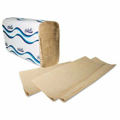 Windsoft Multifold Paper Towels, 1-Ply, 9 1/5 x 9 2/5, Natural, 250Per Pack, ...