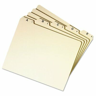 Smead Recycled Top Tab File Guides, Alpha, 1/5 Tab, Manila, Letter, 25/Set - ...