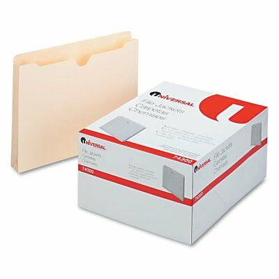 Universal Economical File Jackets, 1 1/2 Inch Expansion, Letter, 11 Point Ma ...