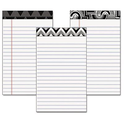 TOPS Fashion Legal Pads with Assorted Headtapes, 5 x 8, 50 Sheets, 6 PadsPer ...