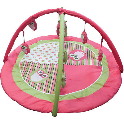 "Baby Toddler Owl Play-gym Activity Mat with Hanging Toys 36"" Diameter Quality"