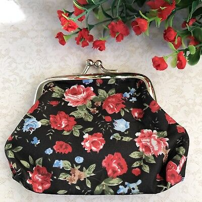 Beautiful Floral Vintage Style Coin Purse