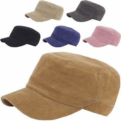 255b02249c16b6 A181 Pre-curved Simple Unisex Soft Corduroy Golf Club Army Cap Cadet  Military Ha