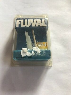 NEW Fluval 104  204 Curved Blade Impeller Shaft and WHITE Plastic SupporT A20040