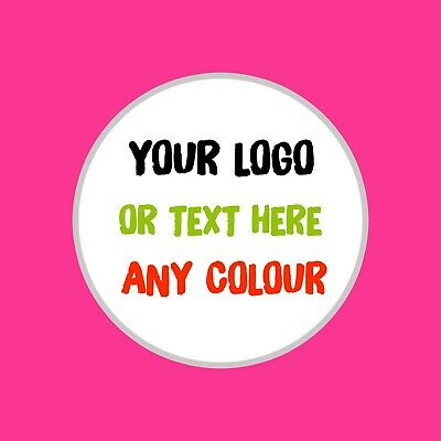 LOGO PRINTED ROUND STICKERS Brand Custom Logo Labels 40mm Personalised 250
