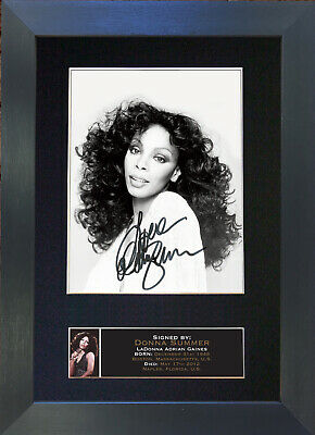 DONNA SUMMER Mounted Signed Photo Reproduction Autograph Print A4 666
