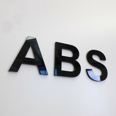 3mm Black Acrylic Plastic Lettering Letters with Adhesive Back - Melbourne Stock