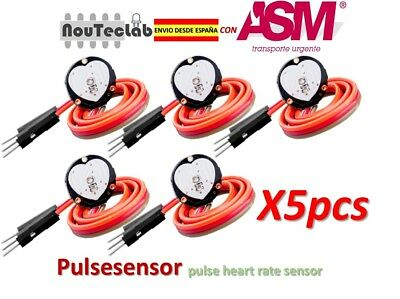 5pcs Pulsesensor Heart Rate Pulse Sensor Module