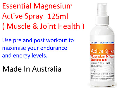 Essential Magnesium Magnesium Active Spray 125ml ( Muscle & Joint Health )